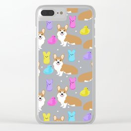 Corgi peeps easter marshmallow spring traditions dog breed welsh corgi Clear iPhone Case