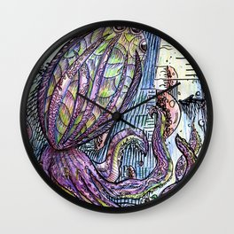 Squid and Jellys Wall Clock
