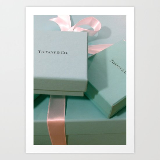 Pile of Boxes Tiffany Blue Style Art Print