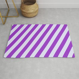 Lavender and Dark Orchid Colored Striped/Lined Pattern Rug