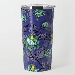 The Sea Garden - deep blue Travel Mug
