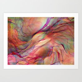 Trippy Ink Colorful Abstract Painting Art Print