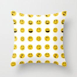 Cute Emoji pattern Throw Pillow