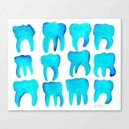 Turquoise Molars - Horizontal Canvas Print
