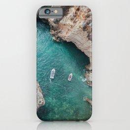 Aerial view of Ponta da Piedade in Portugal iPhone Case