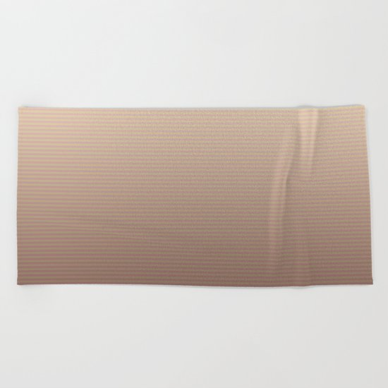 RoseGold Stripes Beach Towel