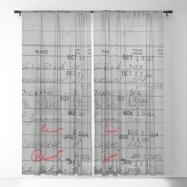 Library Card 23322 Gray Sheer Curtain