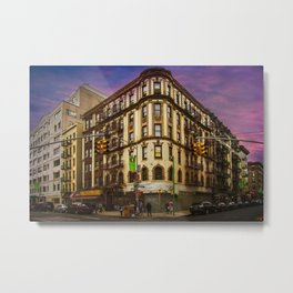 Mulberry & Broome, NYC Metal Print