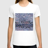 austin T-shirts featuring austin texas city skyline by Bekim ART