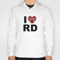 roller derby Hoodies featuring I heart roller derby by Andrew Mark Hunter