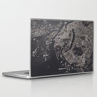 copenhagen Laptop & iPad Skins featuring Copenhagen city map by maptastix