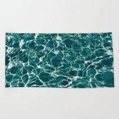 SEA - blue , white ocean , waves , clear , clarity Beach Towel