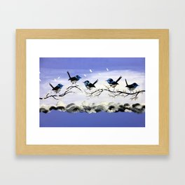 Purple Art with Gray Framed Art Print