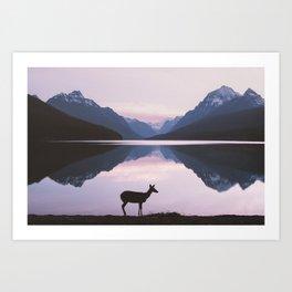 Montana Deer Art Print