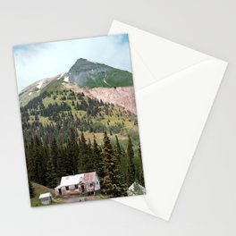 Country Schoolhouse at the Gold Rush Idarado Mine Stationery Cards
