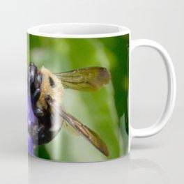 Bumble Bee on Veronica Spike Speedwell Flower by Teresa Thompson Coffee Mug