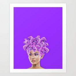 The flower queen Art Print