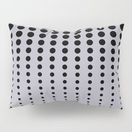 Reduced Black Polka Dots Pattern on Solid Pantone Lilac Gray Background Pillow Sham