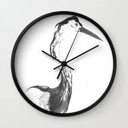 Study of a heron Wall Clock