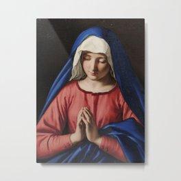 Giovanni Battista Salvi da Sassoferrato - The Virgin in Prayer Metal Print