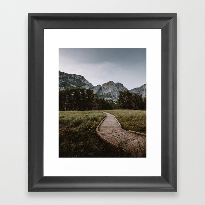 Yosemite Path Gerahmter Kunstdruck