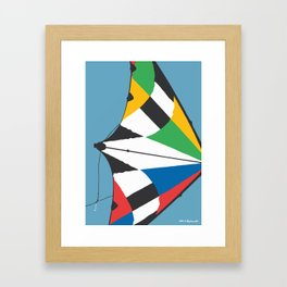 Kite—Sky Blue Framed Art Print