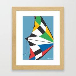 Kite—Sky Blue Framed Art Print