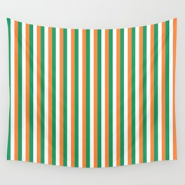 Irish Tricolour Vertical Stripes Green Orange and White Irish Flag Wall Tapestry