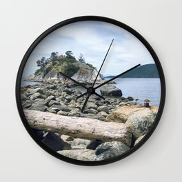 Low Tide at Whytecliff Park Wall Clock
