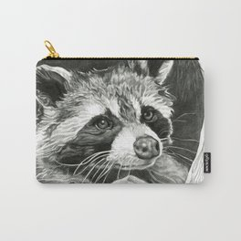 Raccoon In A Hollow Tree Drawing Carry-All Pouch