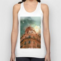 france Tank Tops featuring Montpellier  - France by Victoria Herrera