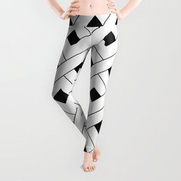Monochrome Intricate Pattern Alpha Leggings
