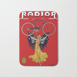 Vintage Radior Bicycle Ad Bath Mat
