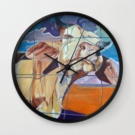 The Girl Next Door Cow Portrait Wall Clock