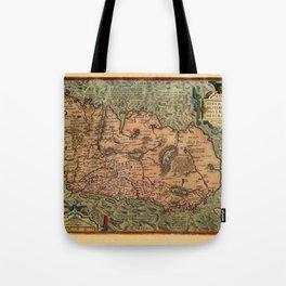 Map Of Ireland 1575 Tote Bag