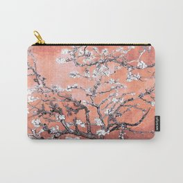 Van Gogh Almond Blossoms : Deep Peach Carry-All Pouch