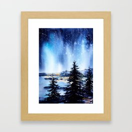 Every Diamond In The Sky Watches Over Us Tonight Framed Art Print