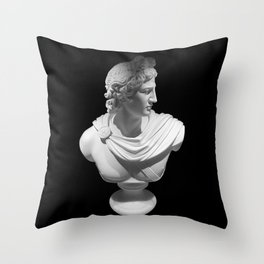 Bust of Caesar Throw Pillow