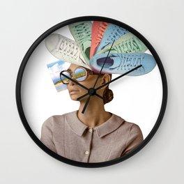Active woman Wall Clock
