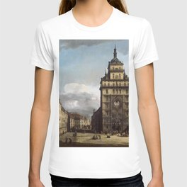 Bernardo Bellotto - Square with the Kreuz Kirche in Dresden T-shirt