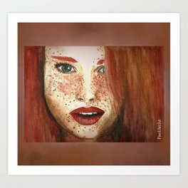 Red Hair Art Print