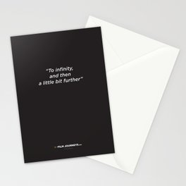 Film Journeys Misquotes: To Infinity, And The A Little Bit Further Stationery Cards