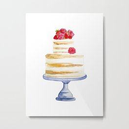 Berries cake Metal Print