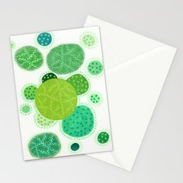 Green Planets Stationery Cards