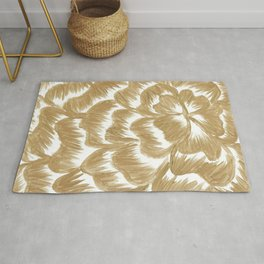 Golden Dahlia Flower Rug