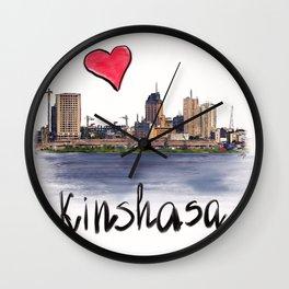I love Kinshasa Wall Clock