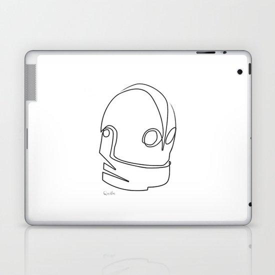 One line Iron Giant Laptop & iPad Skin