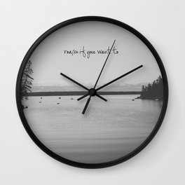 Roam If You Want To Wall Clock