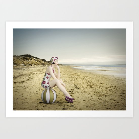 Live in the Sunshine, Swim in the Sea, Drink the Wild Air... Art Print