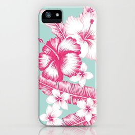 Hawaiian Hibiscus Flowers iPhone Case